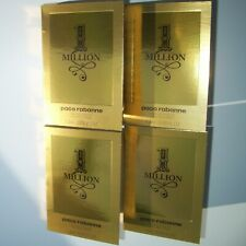 PACO RABANNE ONE MILLION 1 MILLION EDT 4 x 1.5ml SAMPLE SPRAY VIALS NEW