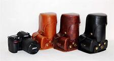 New Retro vintag Leather Camera case cover pouch bag For Nikon D3100 D3200 D3300