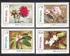 Nepal 1997 Jasmine/Aster/Lotus/Flowers/Plants/Nature/Conservation 4v set n38821
