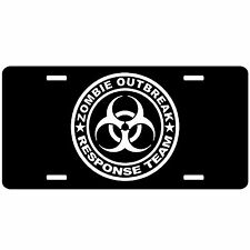 Zombie Outbreak Response Vehicle Car Tag License Plate Vanity Tag - Black