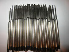 50 Ballpoint Pen Refills for WATERMAN * BLACK MEDIUM