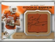 Colt McCoy 2010 Upper Deck SP Authentic RC Auto/Jersey #/25 Browns/Texas