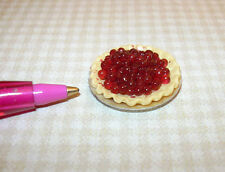 Miniature Cherry Pie!  Not Yet Baked??  DOLLHOUSE 1/12 Scale Bakery