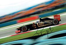 Vitaly PETROV SIGNED 12x8 Lotus Renault Photo AFTAL Autograph COA Russian Driver