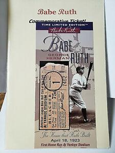 Babe Ruth Commemorative Ticket First Home Run at Yankee Stadium