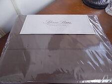 Sferra Celeste King Sheet Set Egyptian Cotton Percale Chestnut Brown Italy -New!
