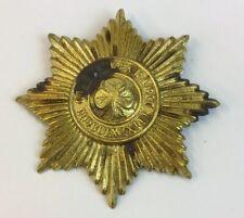 Vintage Large Brass Irish Guards Pouch Badge 8cm In Diameter