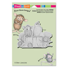 HOUSE MOUSE RUBBER STAMPS CLING SING A SONG NEW cling STAMP