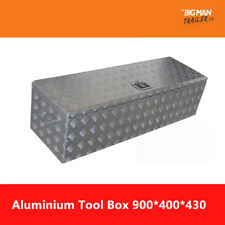 Aluminum Tool Box 900x400x430mm Checker Plate 2.5mm Thick Free Postage
