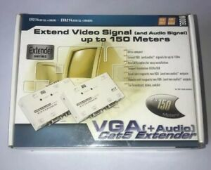 VGA EVA-214 cat5 video signal extender with audio - Open Never Used