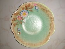 Vintage Melba Ware Bowl green  with embossed flowers design 21cm diameter