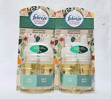 2 Febreeze SPICED PEAR Scented Oil Diffuser Refill AUTUMN HARVEST