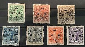 INDIA Cochin 1929 service set SG O24 to O30 Fine used