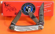 "Bulldog Sowbelly Stockman ""Cuttin Horse"" Knife w Pearl Handles -NOS +Box"