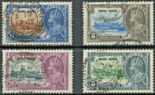 Hong Kong 1935 KGV Silver Jubilee set of 4 used stamps  VFU