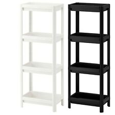 Ikea Vesken Shelving Unit Bathroom Kitchen School Storage 2 Colours 4Tier