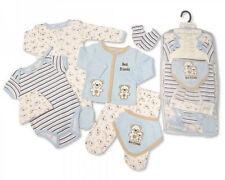 7 piezas bebé chicos Layette Ropa Conjunto de Regalo Pequeño Oso De Peluche por tiempo de Vivero