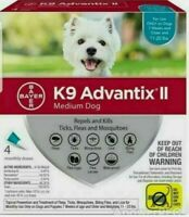 Bayer K9 Advantix II Flea Tick Mosquito Treatment for Medium Dogs 11lbs to 20lbs