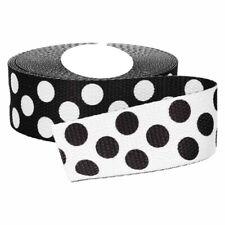 1 m Gurtband schwarz weiß beidseitig verwendbar 30 mm Punkte Taschenhenkel
