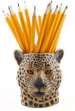 More details for leopard face pencil pot by quail ceramics desk pencil / pen holder