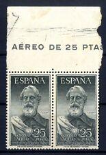 Bloque de dos Sellos de España 1953 Legazpi  nº 1124  Sello nuevo