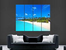 Beach paradide Sabbia di Mare Maldive Arte Parete Immagine GRANDE POSTER GIGANTE!!!