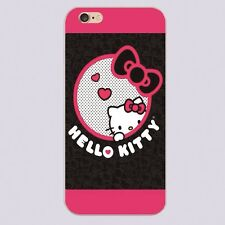 Black and Pink Hello Kitty Design Case Cover for Iphone 5/5S/6/6S/6plus/6s plus