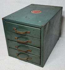 VINTAGE WARDS MASTER QUALITY INDUSTRIAL METAL 4 DRAWER SMALL PARTS CABINET