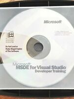 Microsoft MSDE For Visual Studio Developer Training