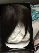 Ellen Wille dark brown bob synthetic hair including wig stand and care products