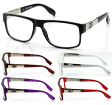Mens Womens Clear Lens Square Eye Glasses Fashion Designer Wrap Frame Optical RX
