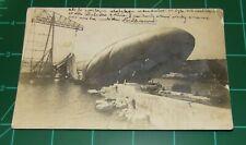 1915 RPPC GERMAN BLIMP ZEPPELIN CRASH RECOVERY PHOTO WW 1 AUSTRIA BOHEMIA