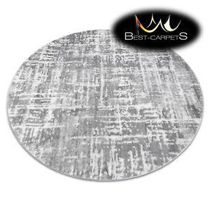 Modern Designer Rug MEFE circle, lines vintage, structural, GREY, best quality