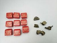 monopoly piece vintage hotel wood original game token replacements. Lot of 14