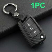 1PC Carbon Fiber Car Key Fob Chain Cover Case For VW GTI Golf MK7 Skoda Audi A1