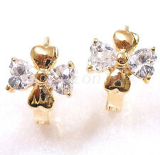 fashion1uk Hoop Earrings 18K Gold Plated Simulated Diamond Flower Bow Butterfly