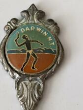 Collectors Souvenir Fork - Darwin NT - Boomarang Thrower - Silver Plate