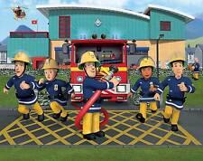 Walltastic Fototapete 3D Optik Feuerwehrmann Sam Feuerwehr Tapete Wandbild