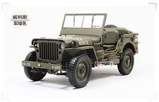Die-cast models,Welly 1:18 1/4 TON US ARMY JEEP VEHICLE WW 2 TOP DOWN