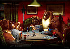 Dogs Playing D&D (2nd edition D&D version) full color poster