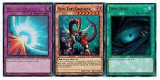 3- Ultras set: Dark Hole + Mirror Force YGLD1st + Odd-Eyes Dragon YS14 YUGIOH