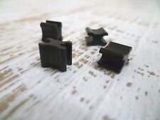 YKK Zipper Bottom Stops - #10 Chunky Zip - Black - 4 Pack - ZIP SLIDER REPAIR