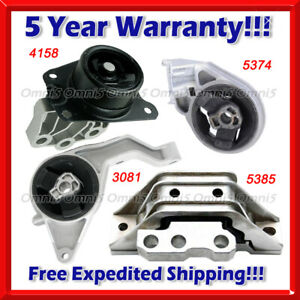 M495 Fits 06-11 Chevrolet HHR 2.2L/ 08-10 2.0L, AUTO Motor & Trans Mount Set 4pc