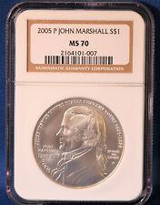 2005-P John Marshall Commemorative Silver Dollar - NGC MS-70 2164101-007