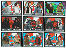 STAR WARS EVOLUTION 2016 Complete STAINED GLASS PAIRINGS Chase Card Set (9)