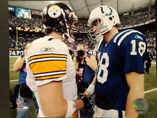 Ben Roethlisberger & Peyton Manning 8X10 PHOTO Pittsburgh Steelers - Colts