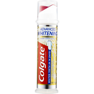 Colgate Advanced Teeth Whitening Tartar Control Toothpaste Pump 130g