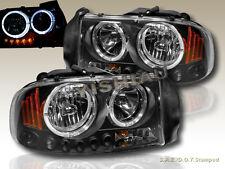 1997-2004 Dakota Durango Headlights CCFL BK 99 00 01 03