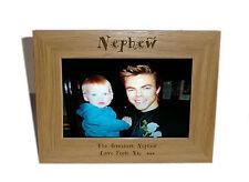 Nephew Wooden Photo Frame 7x5 - Personalise this frame - Free Engraving