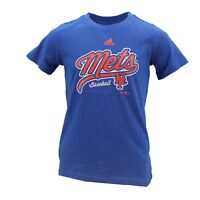 New York Mets Official MLB Adidas Apparel Kids Youth Girls Size T-Shirt New Tags
